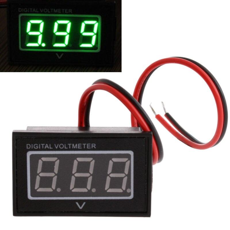 """2020 nuevo voltímetro Digital impermeable CC 2,5-30,0 V medidor de voltaje tres 0,40 """"LED pantalla de tubo digital para uso doméstico"""