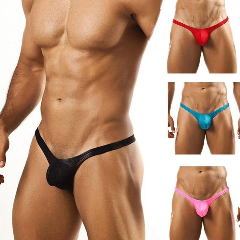 Бесшовные однотонные мужские трусы танга, мужские тонкие трусы с низкой талией, сексуальные удобные дышащие трусы танга, мужские сексуальн...