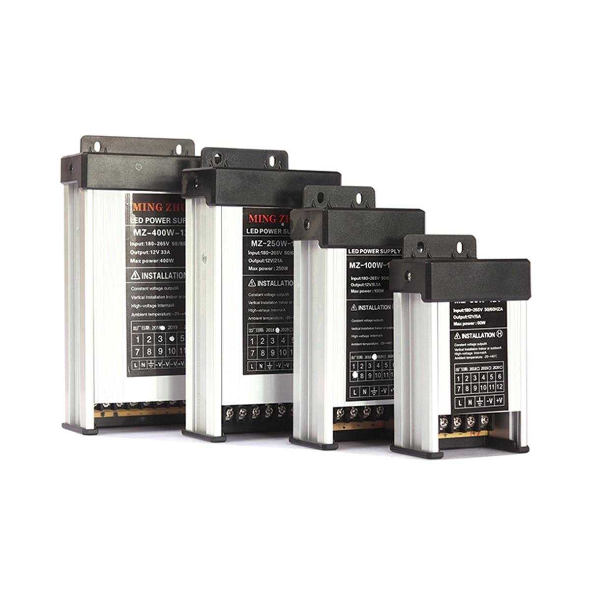 MZ-60/100/250/400W interruptor impermeable fuente de alimentación 380v ac a 220v dc 12v/24V marca SHINIU orferta de fábrica gama completa a bajo precio