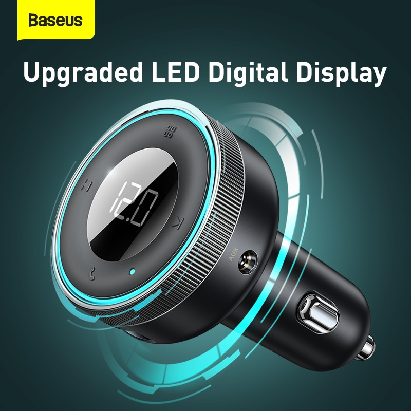 Baseus FM Tansmitter Bluetooth 5,0 FM 2.4A USB Handsfree AUX MP3