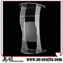 Diseño moderno, venta de fábrica, atril acrílico de cristal transparente, plexiglás