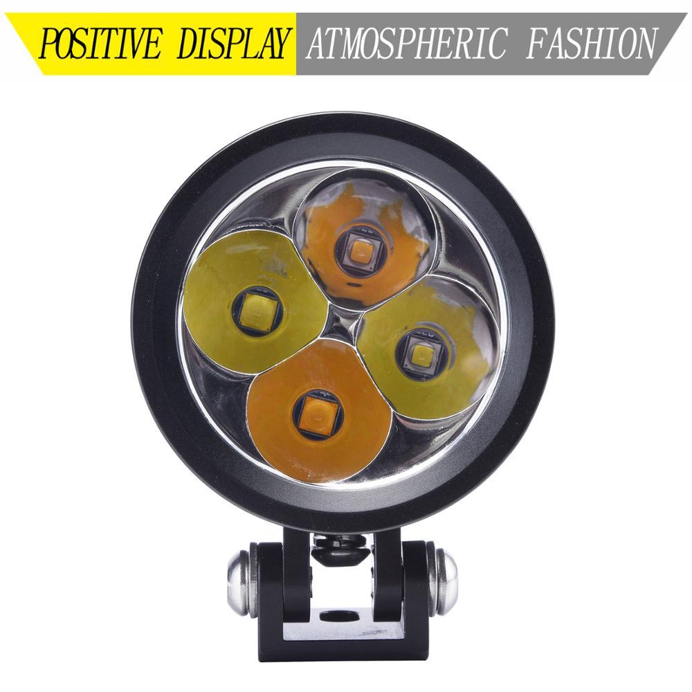 LDDCZENGHUITEC diseño coche súper alta potencia motocicleta carrera Led luz faro 12V 40W 4200LM blanco + luz antiniebla amarilla