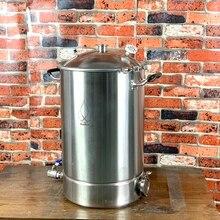 Pot de 38L en acier sanitaire 304   Marmite, réservoir, fermenteur avec couvercle de cloche, Distillation et Rectification,