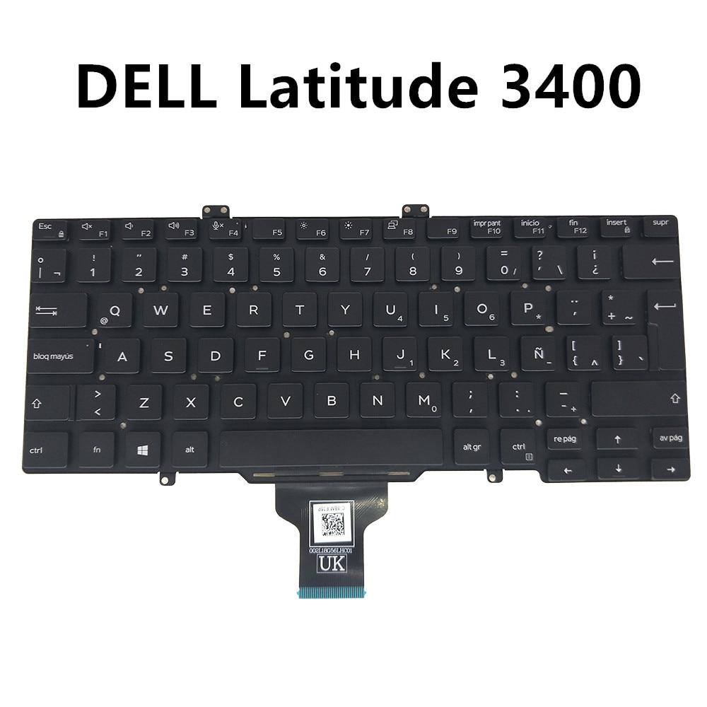 LA وحة مفاتيح الكمبيوتر المحمول لديل خط العرض 5400 5401 7400 3400 اللاتينية SP الأسود المواصفات 0NXW9P NXW9P PK132EE2A22 CN-0NXW9P 0NXW9P-CH200