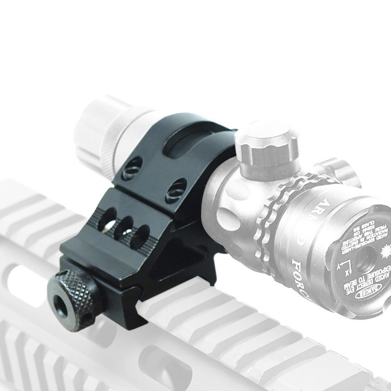 25,4/30mm 45 grados Offset QD con anillo Rifle soporte para linterna Clip montaje traje para 20mm montaje Picatinny Rail caza