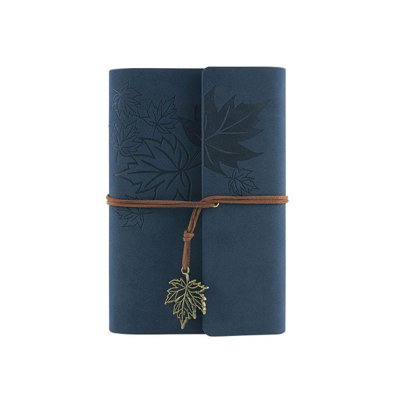 Cuaderno de cuero cuaderno clásico espiral encuadernable diario recargable