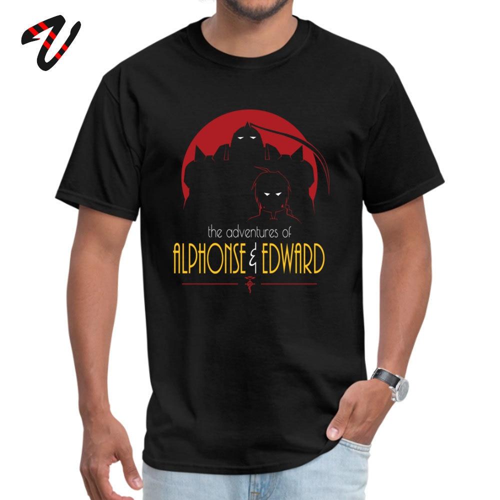 Camiseta de Anime japonés para hombre, camiseta Adventures Of Alphonse Edward, camisetas de tela de algodón, camisetas Fullmetal Alchemists, camiseta impresionante