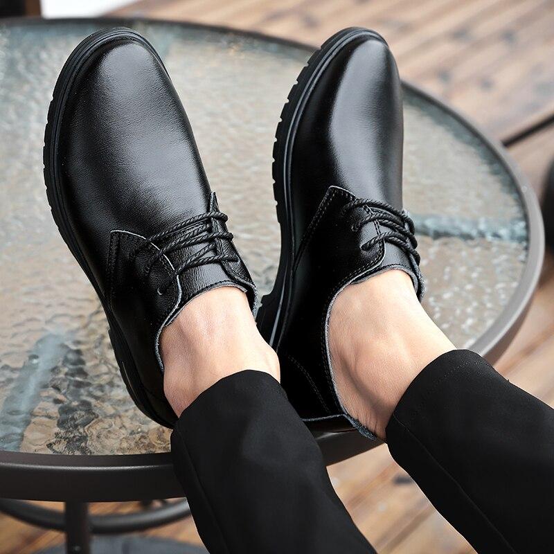 Skool para mocasines, bota clásica italiana, oxford, cuero retro, correa para hombre, Puro genuino, formal, real de cuero para hombre