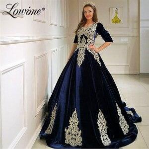 Muslim Evening Dress Vestidos Elegantes Vintage Dresses Woman Party Night 2020 Velour Formal Dresses Robe De Soiree Prom Gown