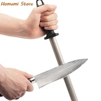 high quality 8 inch diamond kitchen knife sharpening rod steel stainless steel sharpener stone tool