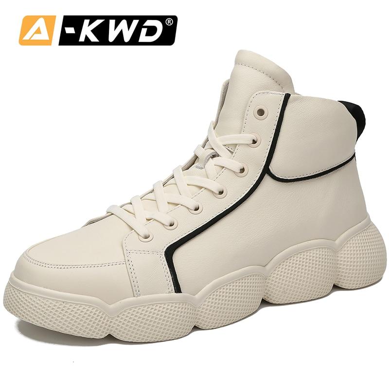 Moda branco designer sapatos turnschuhe mans sapatos de alta qualidade couro genuíno dos homens das sapatilhas 2019 sapatos casuais