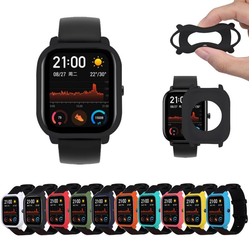 Protector de pantalla para Xiaomi Huami Amazfit Bip reloj Xiaomi pulsera Protector de carcasa cubierta protectora de silicona