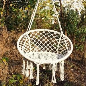 Hanging Hammock Swing Dormitory Bedroom Outdoor Nordic Baby Children Kids Round Knitted