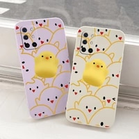 cute chick liquid silicone phone case for oneplus 8t 9 9pro camera protective camera lens protection soft back cover on 9r pro