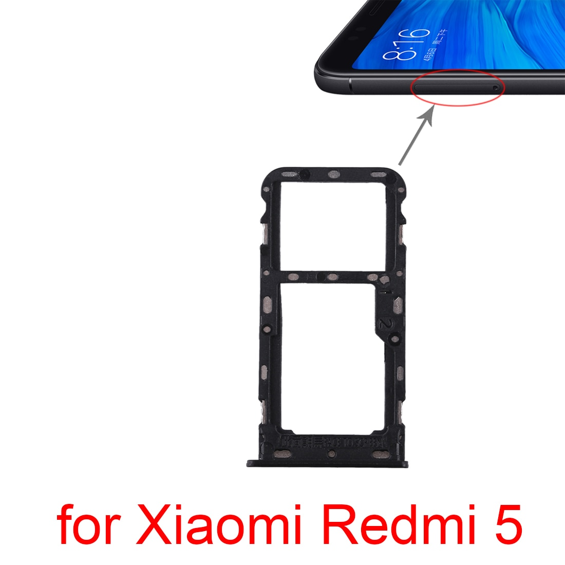 5pcs/lot SIM Card Tray  Micro SD Card Tray for Xiaomi Redmi 5 Plus enlarge