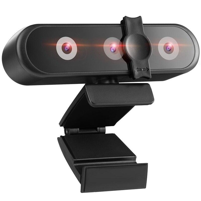 webcam full hd para computador pc camera web com reconhecimento facial foco automatico