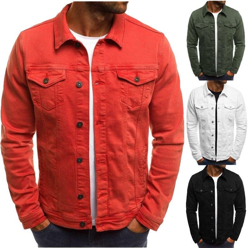 Мужская модная одежда, новинка, Лидер продаж, облегающая мужская куртка с несколькими карманами и пуговицами, мужская одежда в Корейском ст...