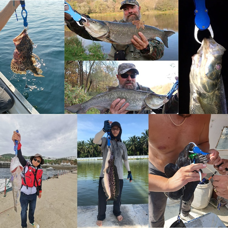 LINNHUE הטוב ביותר אלומיניום סגסוגת דיג צבת אחיזת סט קרס דיג הוק ציוד לשחזר חותך קו פיצול טבעת דיג אביזרים