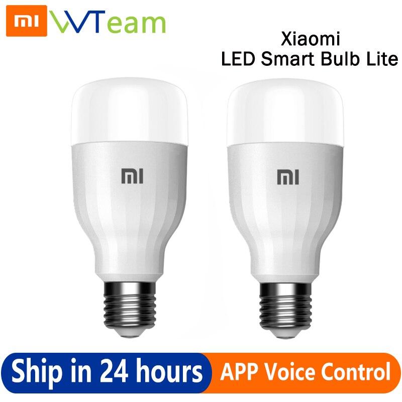 Xiaomi Global Mi-لمبة إضاءة LED ذكية ، مصباح ذكي مع تحكم صوتي ، تطبيق Wifi ، 9 واط ، 80-950 لومن ، 16 مليون لون أبيض وملون