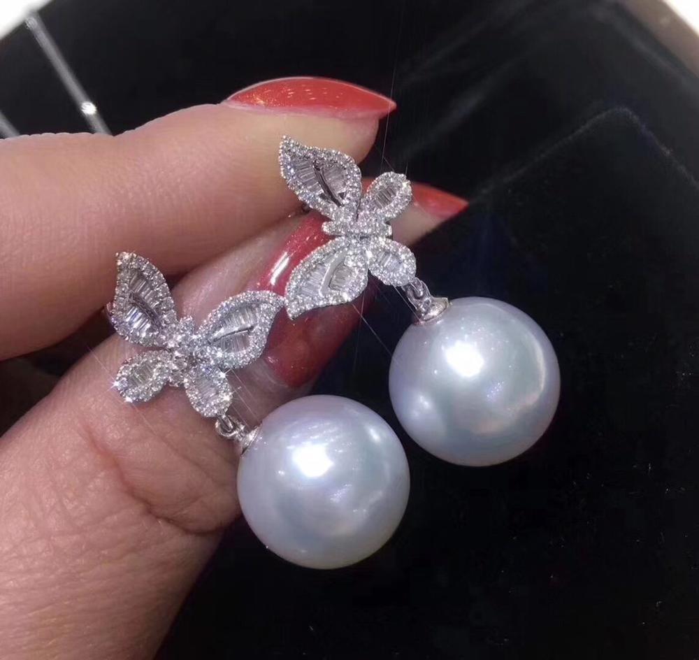 D115 Feine Schmuck 925 Sterling Silber Natürliche Frische Wasser 8-10mm Weiß Perlen Weiblichen der Schmuck Sets für frauen Edlen Schmuck Sets
