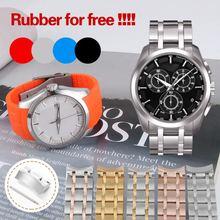 Bracelet de montre homme 22mm 23mm 24mm en acier inoxydable pour Tissot T035 Bracelet de montre Couturier Bracelet de montre de marque T035617 élastique Bracelet