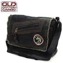 Ancien coton Cargo 7136 Robbie sac à bandoulière voyage sac à main sac à bandoulière Style effiloché sacoche toile Vintage épaule sac de messager