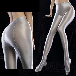 Sexy Shiny Glossy Oil Women Skinny Glossy Legs Tights Seamless Pantyhose Stockings Nylon Super Elastic Silk Medias Hosiery