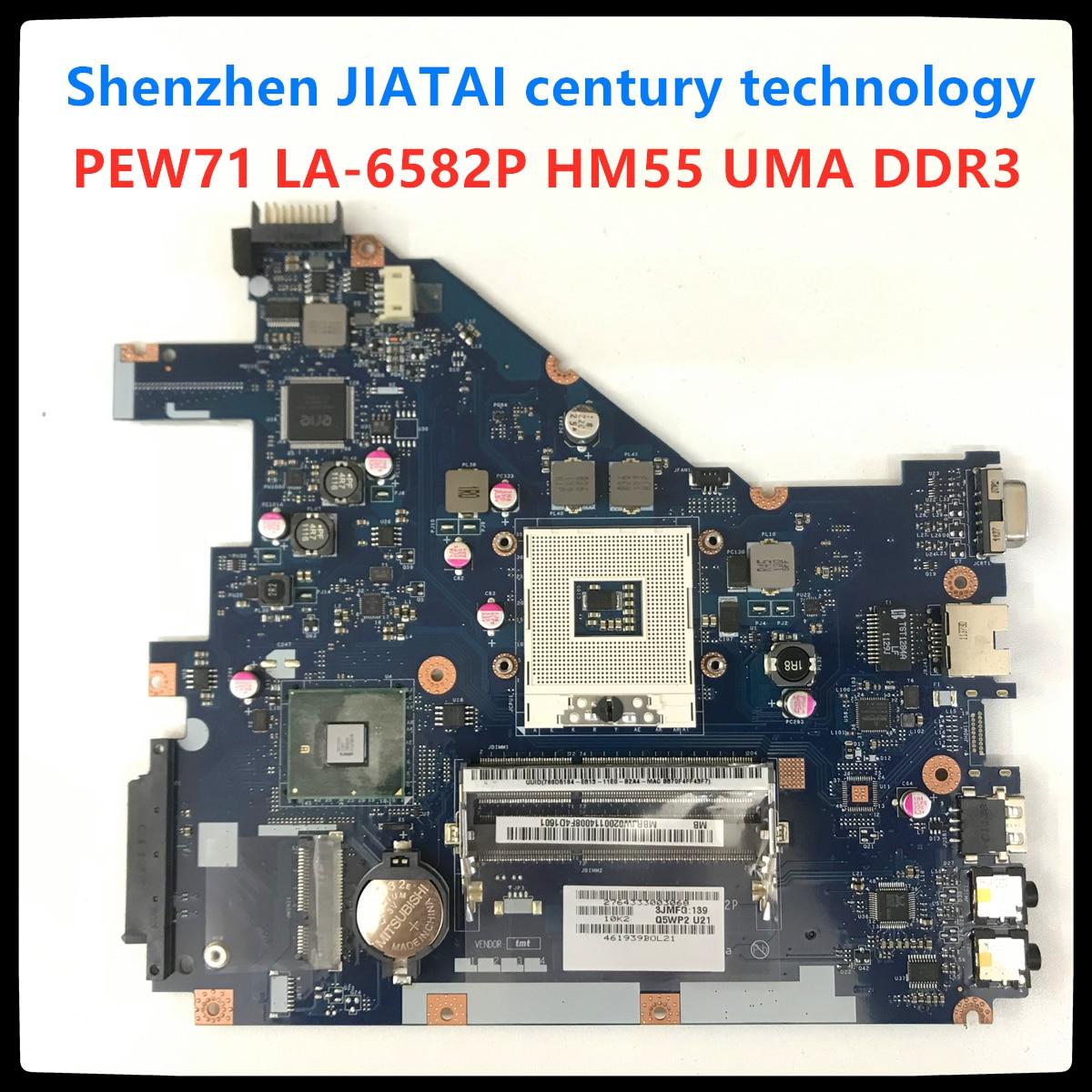 LA-6582P para Acer aspire 5742G 5733 5742Z 5733Z 5742 portátil placa base MBRJY02002 PEW71 LA-6582P HM55 UMA DDR3 100% prueba completa