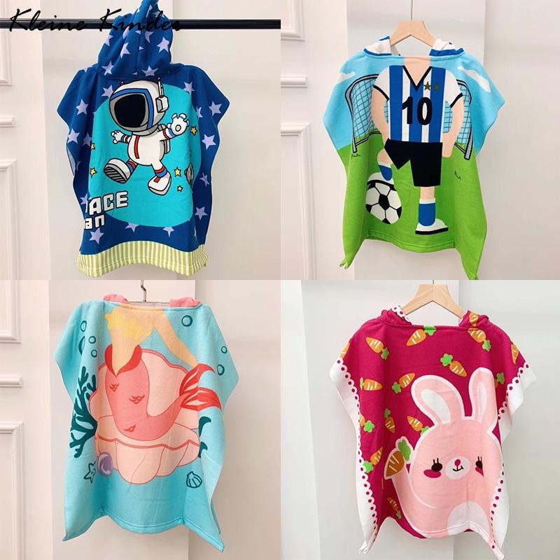 Toalla Poncho para niños Albornoz de microfibra niños Surf piscina playa cambiador bata niñas niños Baño de secado rápido toallas de baño
