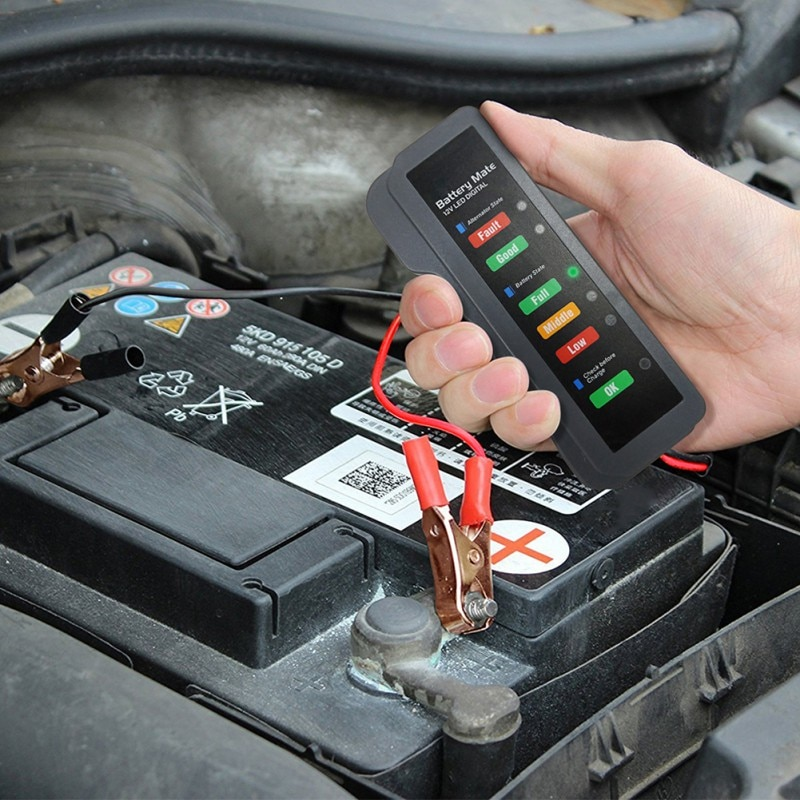 Car Battery Tester Charger Analyzer 12V BM310 Digital Alternator Tester Voltage Battery Condition Charging Cricut Load Tools