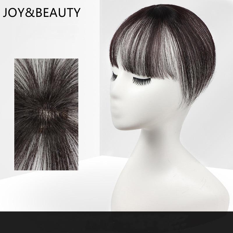 JOY&BEAUTY 3D Air Hair Bangs Straight Neat Bangs Clip In Hair Extensions Topper Bangs 3D Bangs Invisible Seamless Head Hair Wig