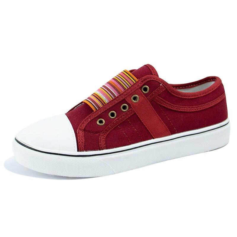 2021 Low-cut Trainers Canvas Flat Shoes Women Casual Vulcanize Shoes New Women Summer Autumn Sneakers Ladies WDHKUN
