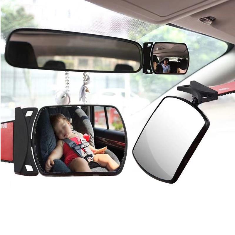Детское автомобильное зеркало заднего вида, зеркало заднего вида для ребенка, мини-зеркало безопасности, выпуклое зеркало, детский монитор,...