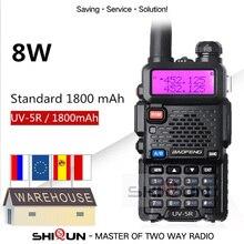 Mise à jour 8W Baofeng UV-5R Talkie-walkie 10 km Baofeng uv5r talkie-walkie chasse Jambon Radio uv 5r Baofeng UV-9R UV-82 UV-8HX UV-XR