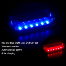 Auto Anti-Theft Fake Simulated Solar Vibration Blue or Red LEDs Flash Light Car Alarm Security Burgl