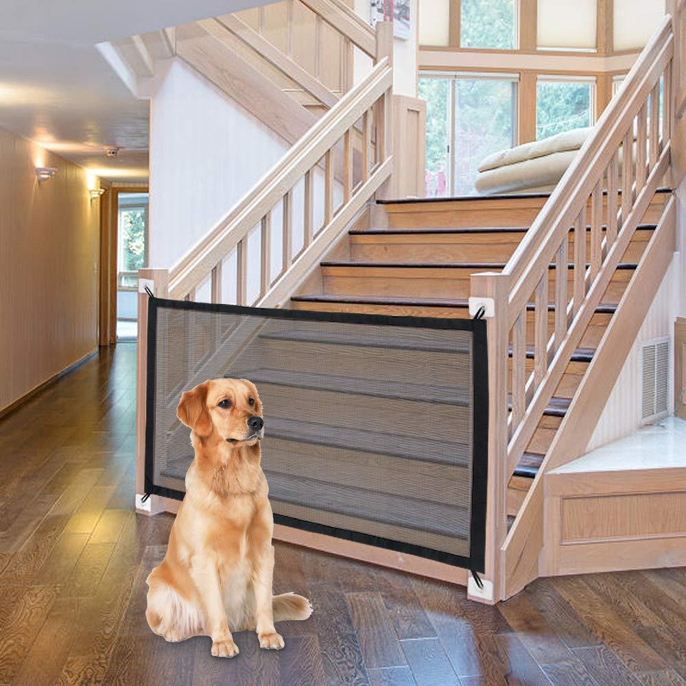 Puerta de perro, ingeniosa cerca de malla para perros, para interiores y exteriores, caja de seguridad segura para mascotas, suministros para mascotas, Dropshipping
