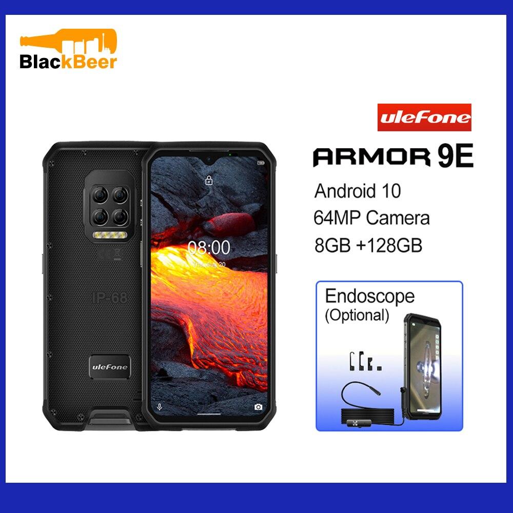 "Ulefone Armor 9E 6.3"" IP68 Rugged Mobile Phone Helio P90 Android 10 Smartphone 8GB 128GB Cellphone 6600mAh 64MP Quad Cameras NFC"