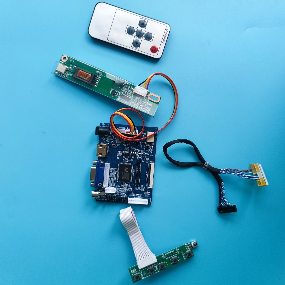 HDMI متوافق VGA 2AV LCD طقم لوحة تحكم عن بعد ل 14.1