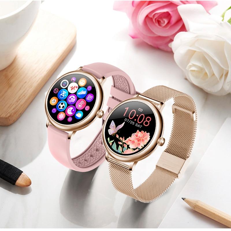 CF80 Smart Watch Women's Wristwatch Girl Smartwatch Women's Watches Heart Rate Sleep Monitor Smart Bracelet Electronic Clock