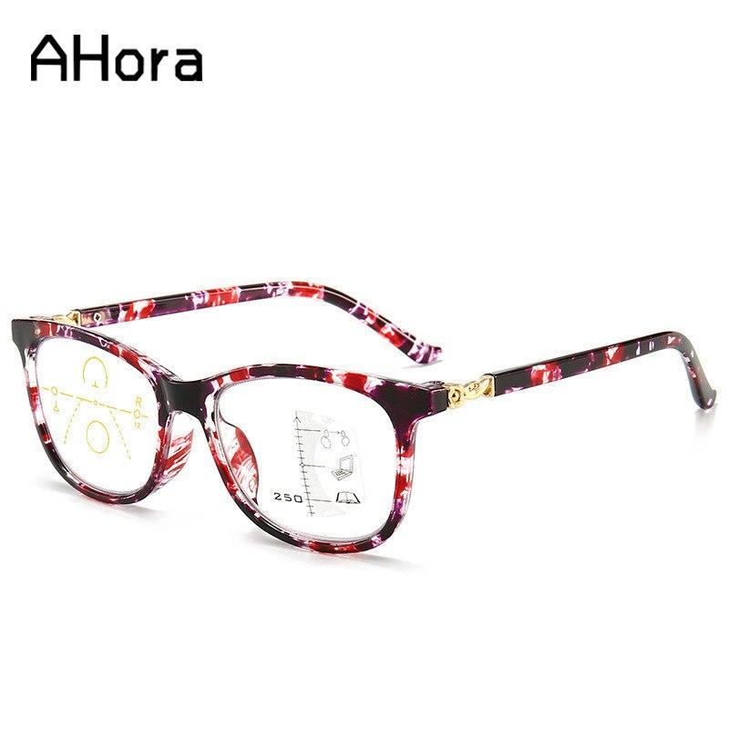 Gafas de lectura multifocales anti-azules de Ahora, gafas para presbicia cerca y lejos, gafas graduales dioptrías + 1,0 1,5