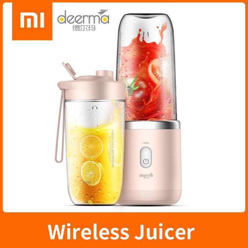 Xiaomi Deerma Juicer Wireless Home Automatic Fruit Vegetable Multi-function Mini Student Juicer Portable Electric Juicer Machine
