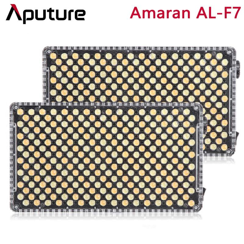 Aputure Amaran AL-F7 двухцветная температура 3200-9500K CRI/TLCI 95 + 256 шт. светодиодный светильник с плавной регулировкой на камере