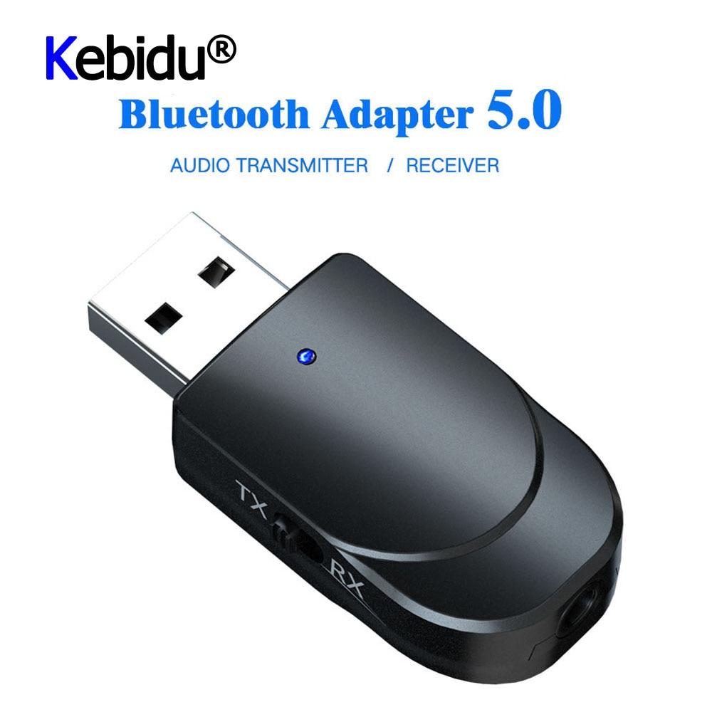 Mini transmisor receptor de Audio Bluetooth 5,0 3 en 1 de 3,5mm Jack AUX estéreo usb música adaptador inalámbrico para TV coche PC auriculares