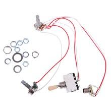 Harnais de câblage de guitare en métal commutateur à 3 voies 1V1T pour accessoire de guitare électrique