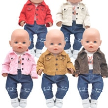 2021 NEW Toys Doll clothes Fashion jackets, Ripped jeans for 43-45cm new born doll American doll acc