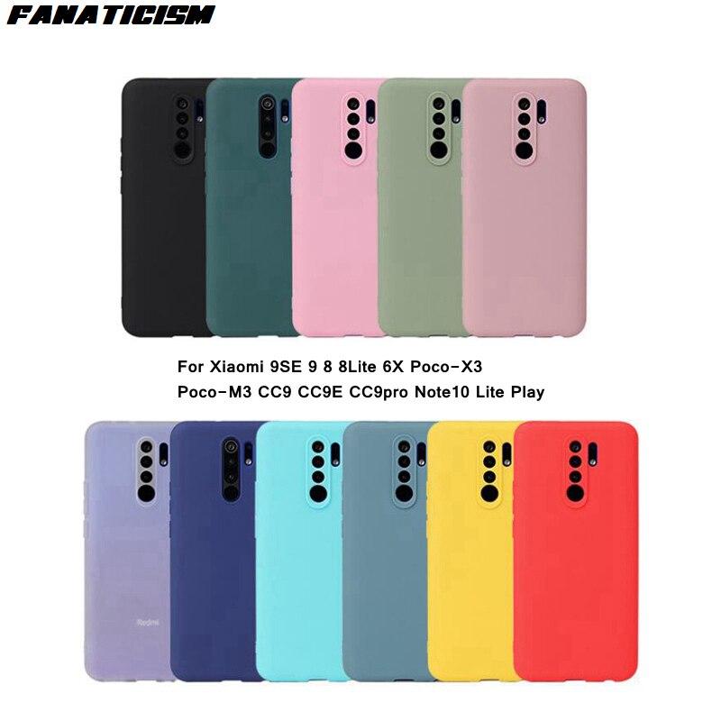 1000 قطعة أزياء مضاد للخبط الملونة TPU ماتي حالات ل Xiaomi 9SE 9 8 8 لايت 6X Poco-X3 Poco-M3 CC9 CC9E CC9pro Note10 لايت اللعب