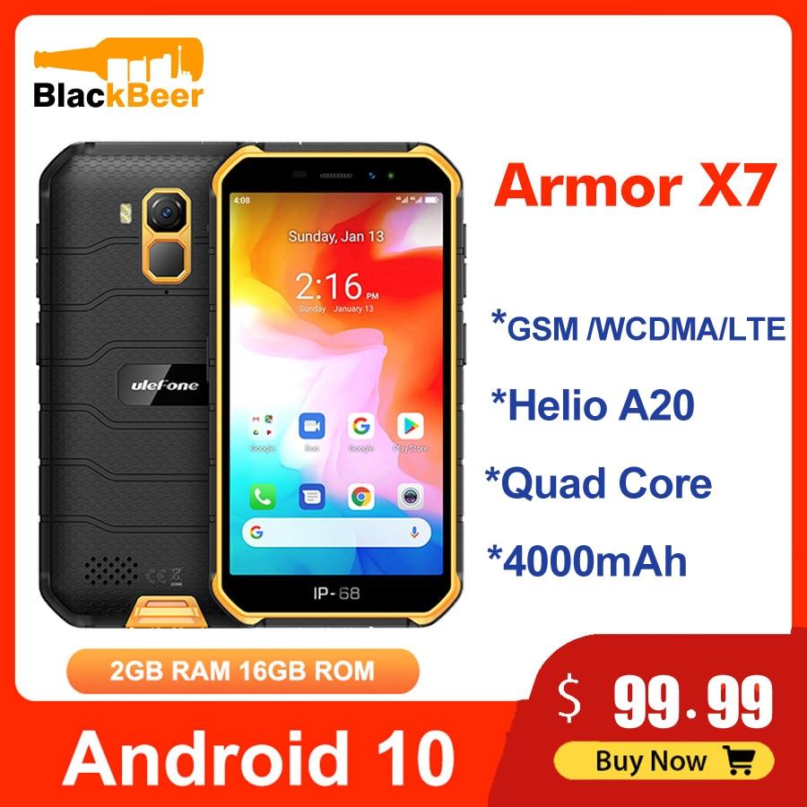Ulefone Armor X7 5,0 дюймов мобильный телефон Android10 IP68 прочный водонепроницаемый смартфон 2 Гб 16 Гб сотовый телефон четырехъядерный NFC 4000 мАч GPS