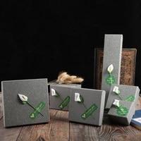 jewelry box bracelet ring gift box fashion quality goods box jewellery organizer drawstring bag packaging boxes