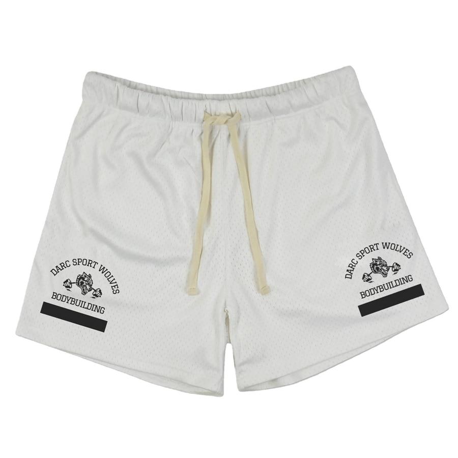 2021 summer sports shorts men's bodybuilding quick-drying shorts jogger knee-length Breathable mesh basketball pants men Shorts
