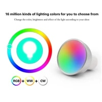 Ampoule intelligente pour projecteur GU10  lampe intelligente avec WiFi  5w RGB   CW 2700-6500K  commande a distance par application  pour Alexa Google Home
